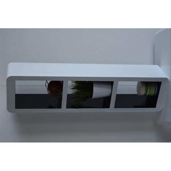 Mensole scaffali bianco nero cubo design arredamento for Mensole arredamento moderno