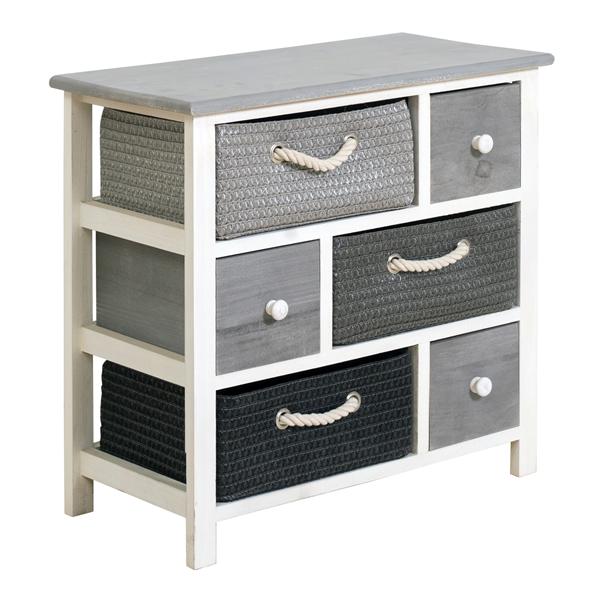 mobili rebecca meuble de rangement commode 6 tiroir bois