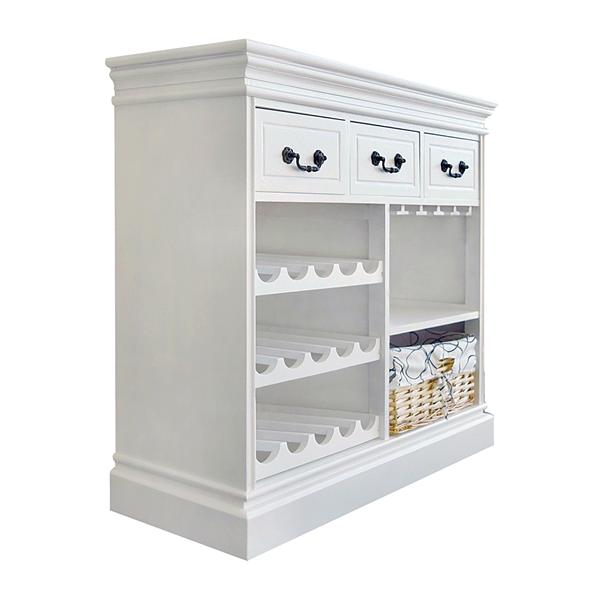 mobile cantinetta portabottiglie in legno bianco 3