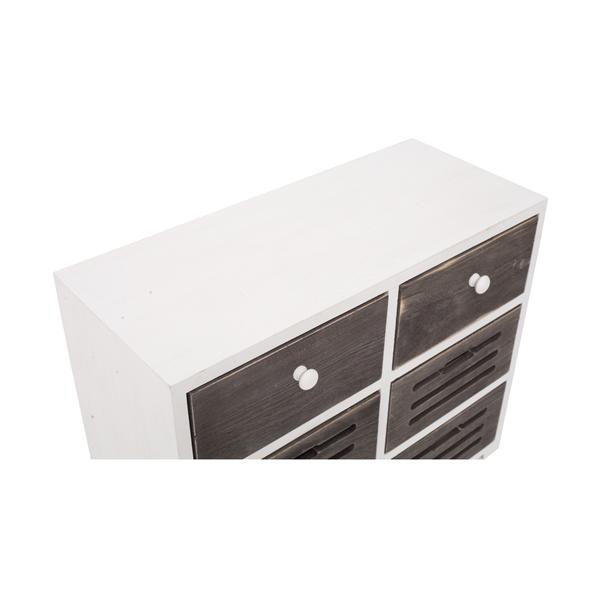 Mobili rebecca mobile credenza 6 cassetti legno bianco for Mobili 6 cassetti