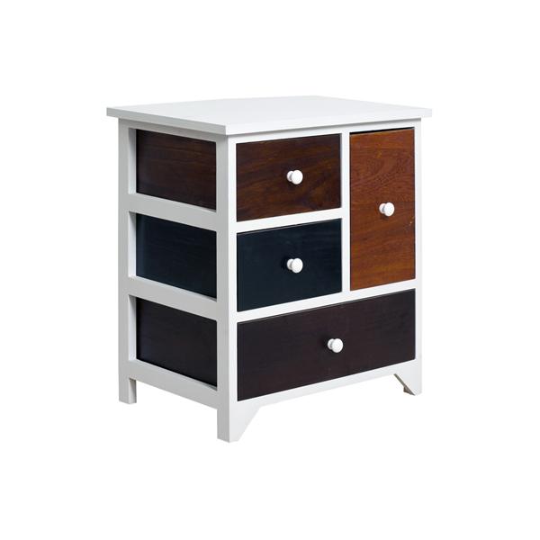Mobili rebecca mobiletto cucina cassettiera 4 cassetti legno bianco colorato ebay - Profondita mobili cucina ...
