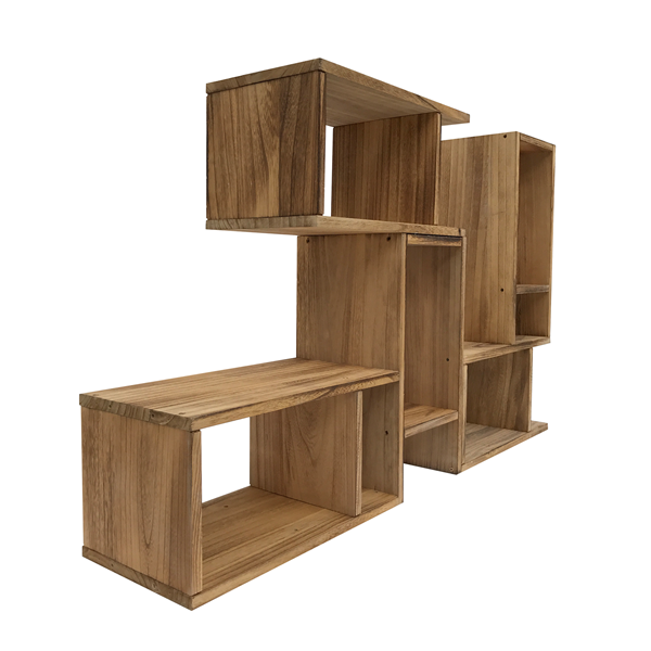 mobili rebecca mobiletto libreria legno marrone stile