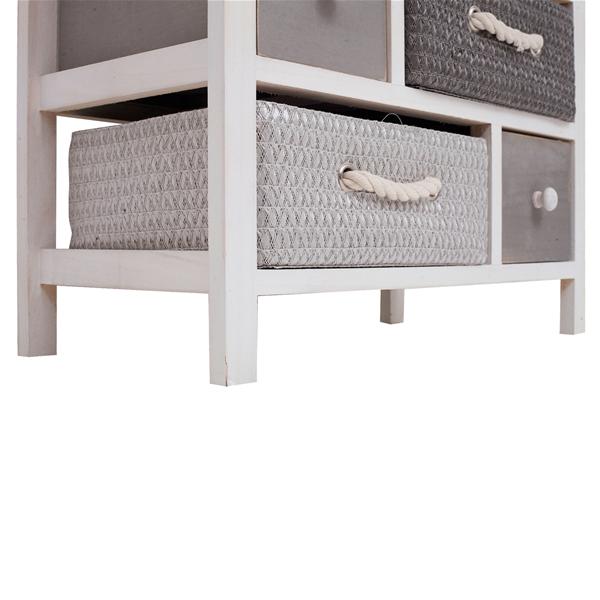 Mobili rebecca cassettiera 10 cassetti legno vimini for Mobiletto bagno vimini