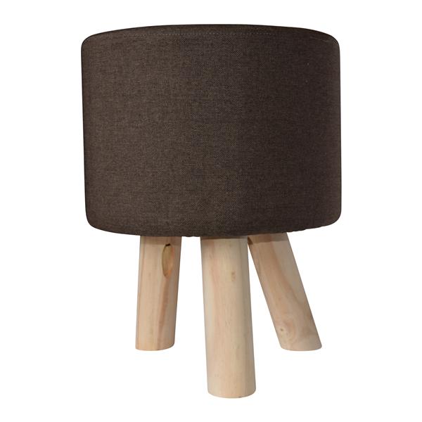 Mobili rebecca poggiapiedi pouf rotondo tessuto marrone for Ebay arredamento casa