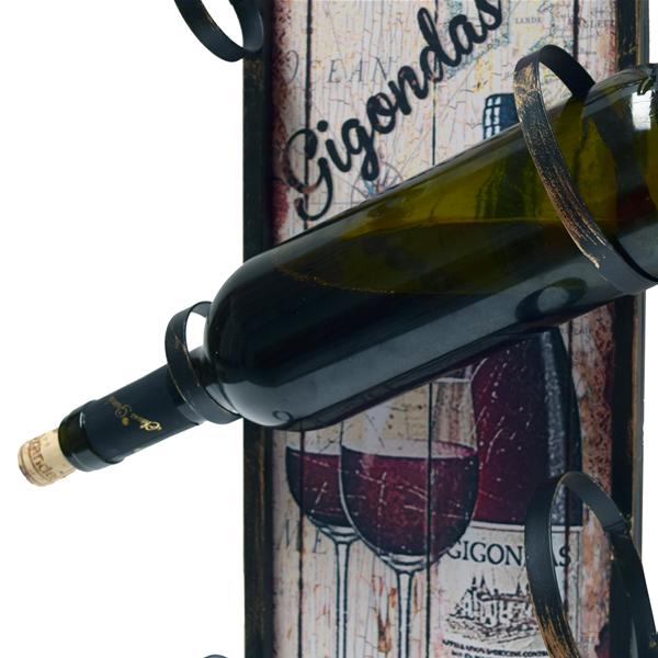 Mobili rebecca portabottiglie scaffale vini da parete legno metallo verticale ebay - Scaffale portabottiglie ...