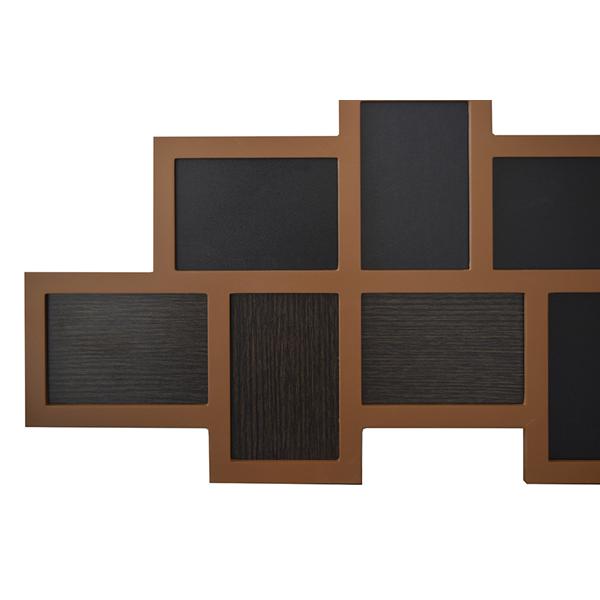 Portafoto multiplo mosaico cornice 14 foto da parete legno for Portafoto verticale da parete