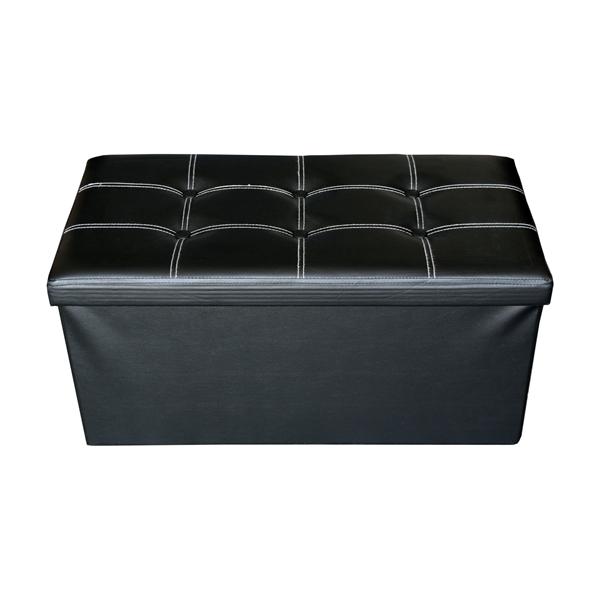 mobili rebecca pouf coffre de rangement banc noir stokage design salon sejour ebay. Black Bedroom Furniture Sets. Home Design Ideas