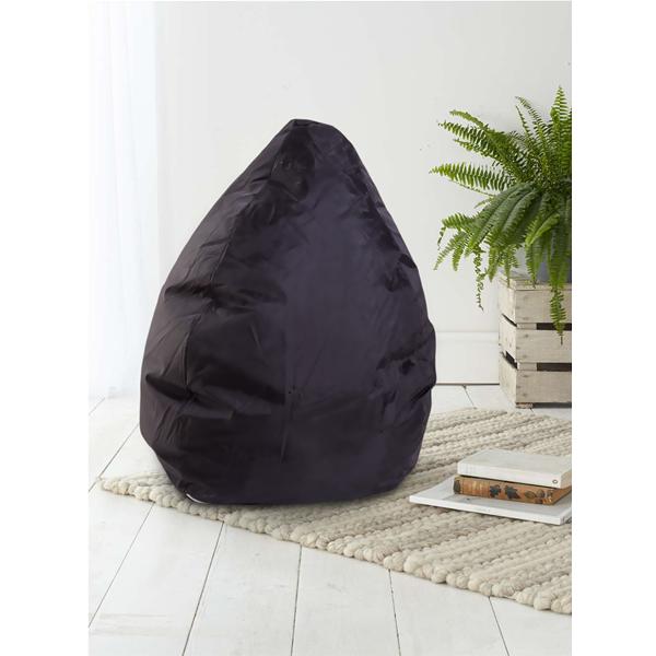 Pouf poltrona sacco nera relax confor sedia imbottita puff for Puff arredo