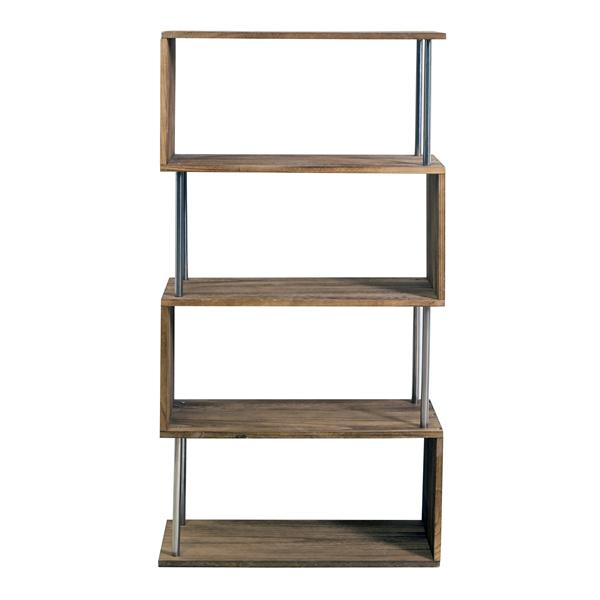 Scaffale libreria 4 ripiani legno chiaro stoccaggio design for Paulownia legno mobili