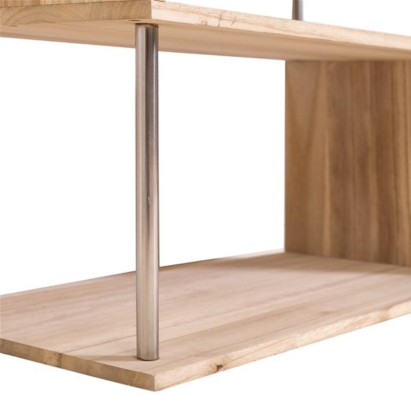 Mobili rebecca scaffale libreria 4 ripiani legno naturale design moderno salotto ebay - Mobili legno naturale ...