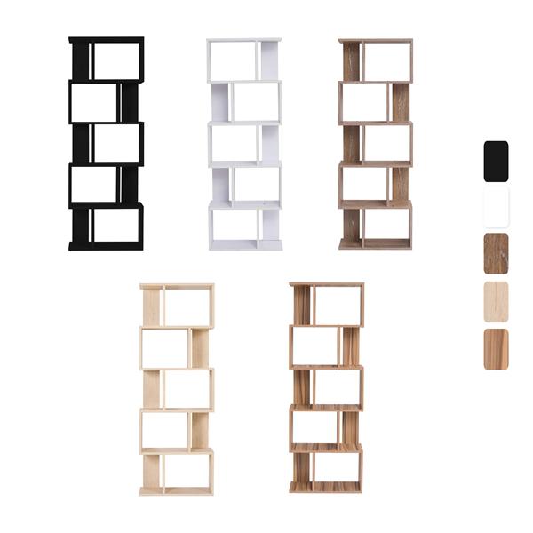 Mobili rebecca scaffale libreria 5 ripiani 7 colori legno - Colori mobili legno ...