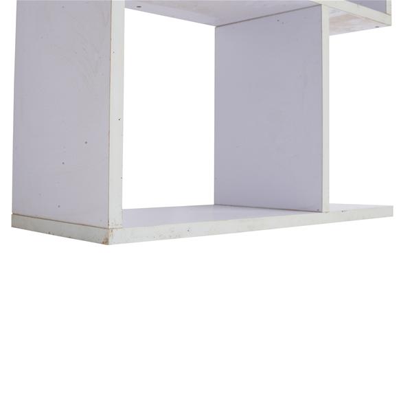 Scaffale libreria 5 ripiani legno bianco stile urban for Scaffale legno bianco
