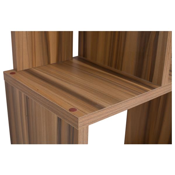 Mobili rebecca scaffale libreria 5 ripiani legno marrone for Mobili salotto legno