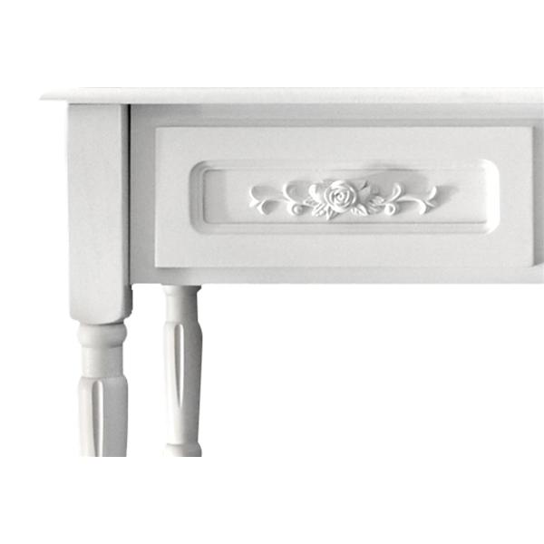 Mobili Rebecca® Schreibtisch 4 Schubladen weiß klassisch Hocker ...