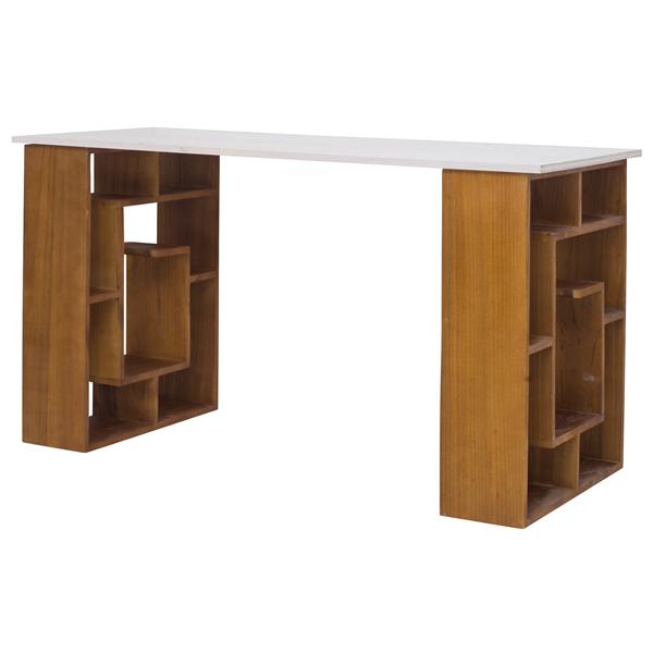 Scrittoio tavolo porta pc legno bianco marrone urban - Tavolo porta pc ...