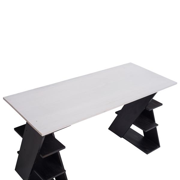 Top mobili rebecca scrittoio con mensole scrivania per for Mensole alluminio ikea