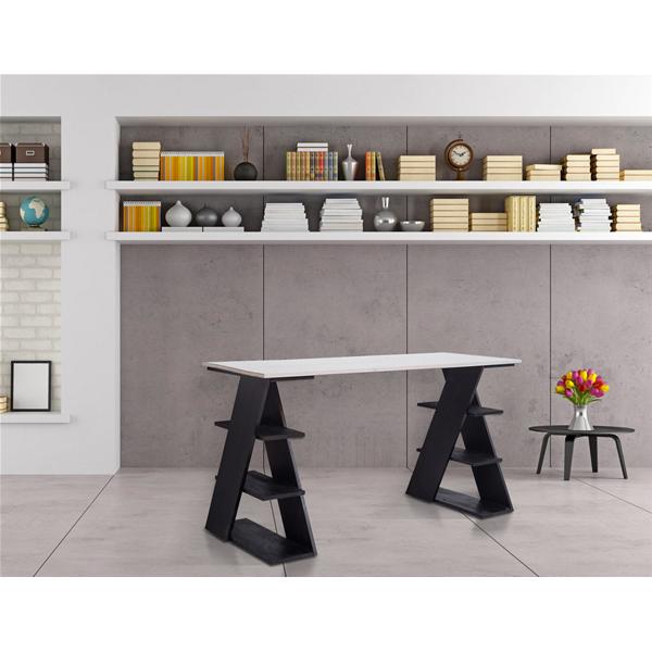 Mobili rebecca scrittoio con mensole scrivania per for Scrittoio per ufficio