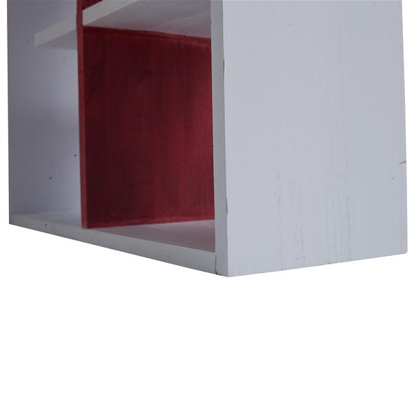 Mobili rebecca scrivania pc tavolo ufficio con mensole for Mensole sopra scrivania