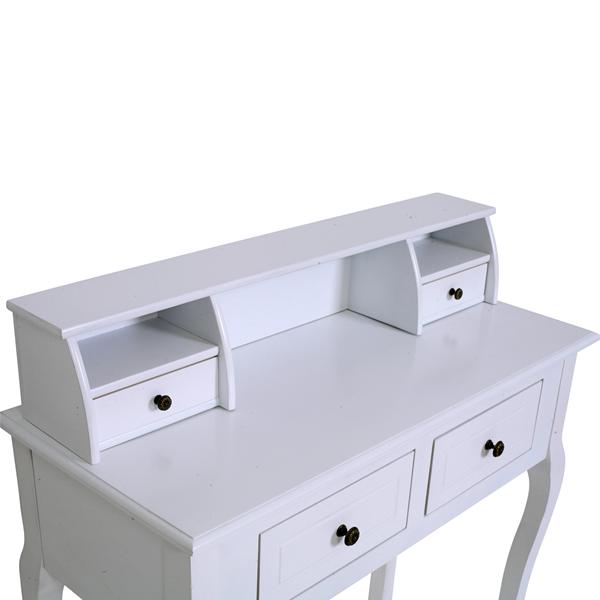 Mobili rebecca scrivania scrittoio 4 cassetti bianco stile classico camera ebay - Mobili stile inglese bianco ...