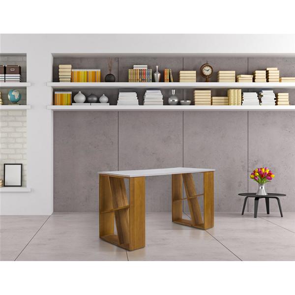 Scrivania scrittoio legno bianco marrone moderno studio for Mobili studio moderno