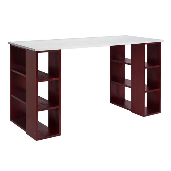 Mobili rebecca scrivania tavolo porta computer legno - Porta computer bianco ...