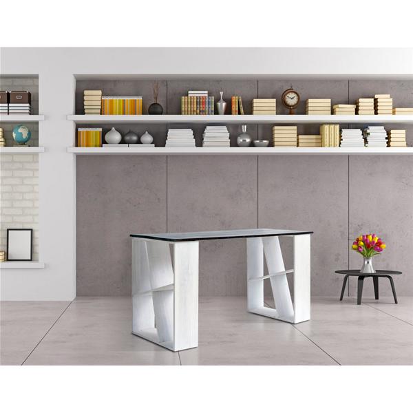 Mobili rebecca scrivania tavolo porta pc legno bianco - Mensole porta pc ...
