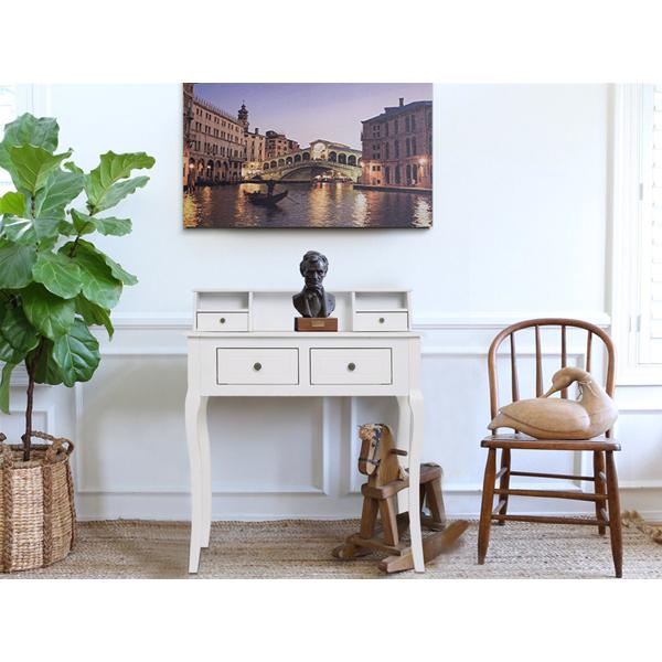 Mobili Rebecca® Sekretär weiß 4 Schubladen klassisch Wohnzimmer ...