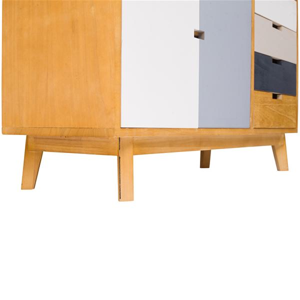 Mobel Mobili Rebecca Sideboard Kuche Vintage Holz Mehrfarbig 4