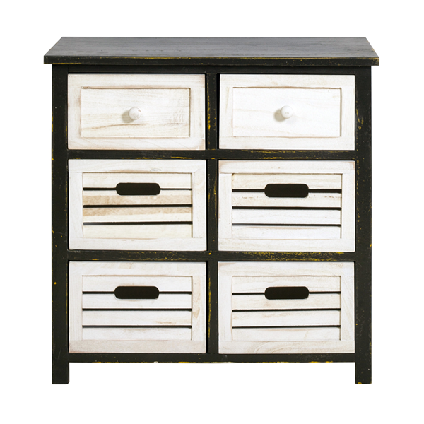mobili rebecca sideboard kommode 6 schubladen holz wei. Black Bedroom Furniture Sets. Home Design Ideas