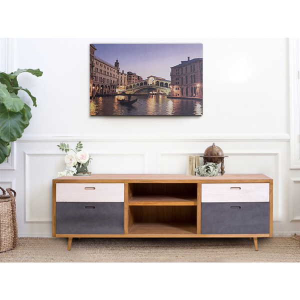 mobili rebecca sideboard m bel 4 schubladen 2 regale holz. Black Bedroom Furniture Sets. Home Design Ideas