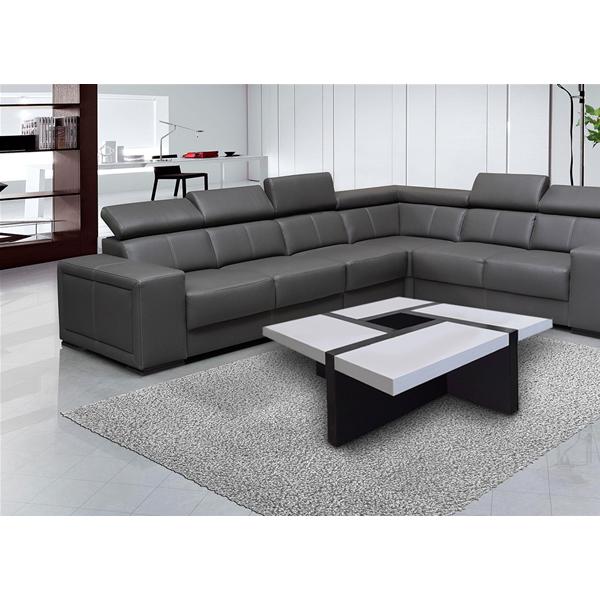 Mobili Rebecca® Table Basse Carre Bois Noir Blanc Design Contemporain Salon  Sejour 5be8f4195704