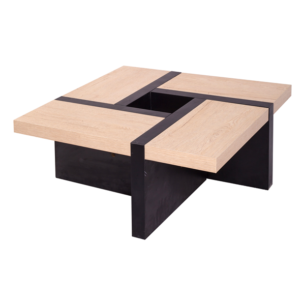 mobili rebecca table basse table de salon bois marron. Black Bedroom Furniture Sets. Home Design Ideas