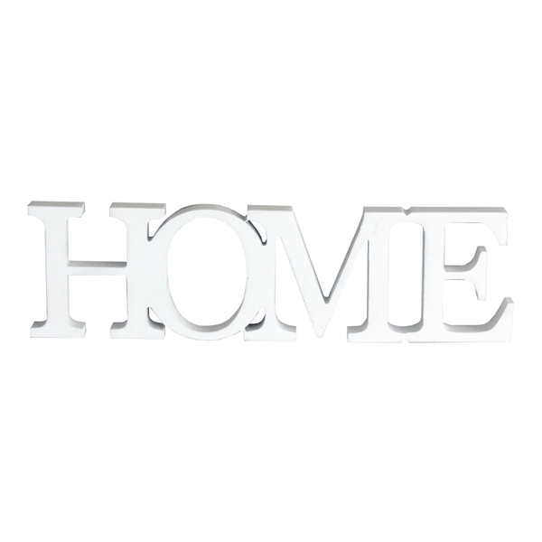 Mobili rebecca targa placca scritta home legno bianco for Scritta home in legno