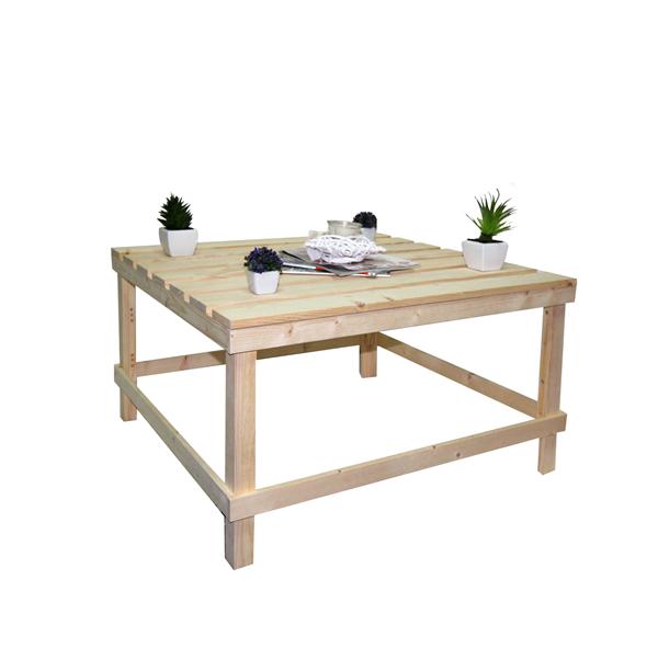 Mobili Rebecca® Tavolo Tavolini da Salotto Legno Chiaro Pallet Rustico Country  eBay
