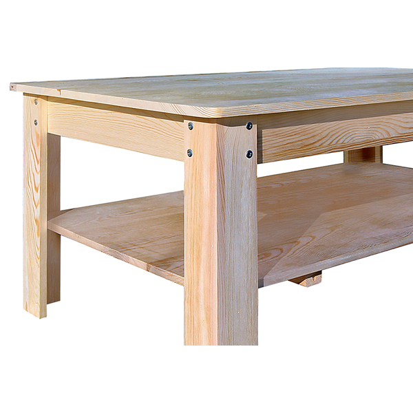 Mobili Rebecca® Tavolo Tavolini da Salotto Legno Chiaro Rustico ...