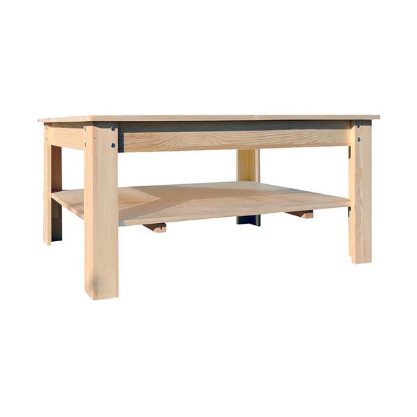 Tavolini da salotto legno chiaro rustico soggiorno ebay - Table de salon rustique ...
