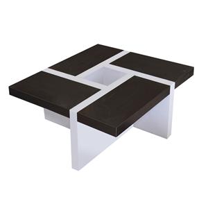 Mobili rebecca tavolino da salotto bianco e marrone for Arredamento in saldo