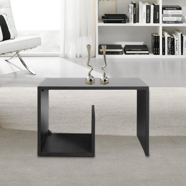 Tavolino da salotto legno nero cubo arredamento moderno for Arredamento moderno salotto
