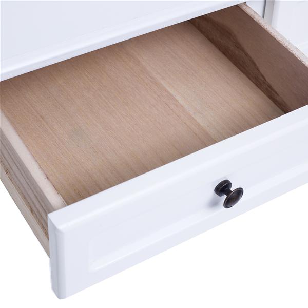 Mobili rebecca tavolo trucco toeletta scrittoio 3 cassetti legno bianco camera ebay - Mobili legno bianco anticato ...