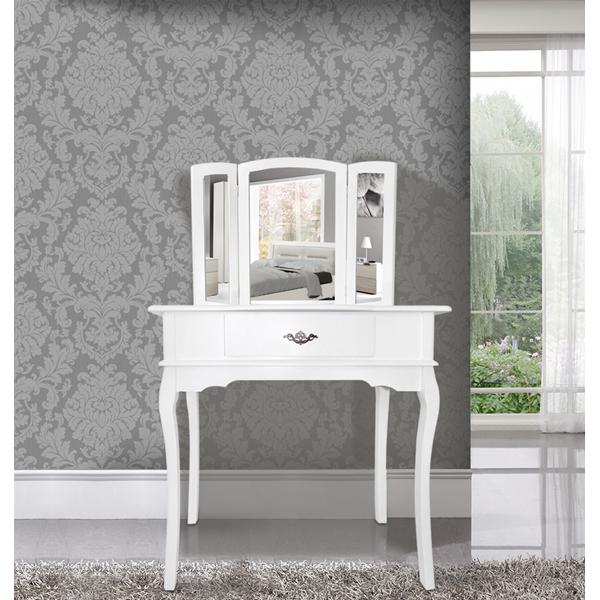 Mobili rebecca toeletta specchiera bianca specchi sgabello - Mobile toeletta moderno ...