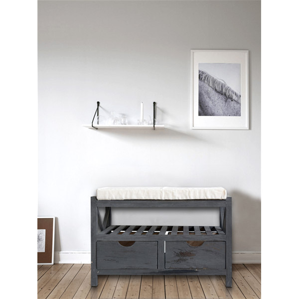 mobili rebecca truhe sitzbank flurbank 2schubladen grau. Black Bedroom Furniture Sets. Home Design Ideas