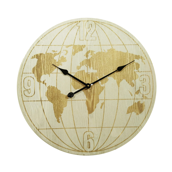 Mobili Rebecca Wall Clock Round Clocks White Wood