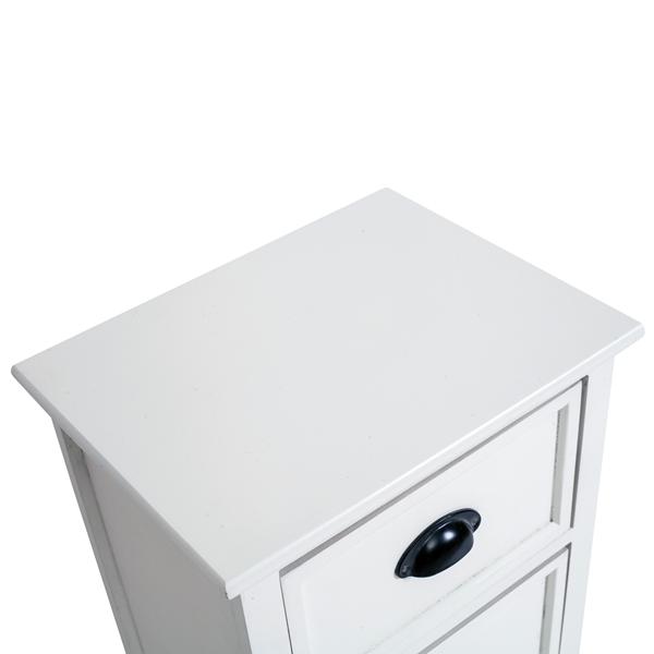 Mobili rebecca comodino mobile 3 cassetti legno bianco for Arredamento casa bianco