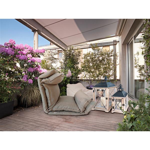 Rebecca mobili 2 portacandele da terra legno naturale for Mobili da terrazzo in legno